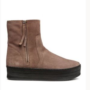 HM Real Suede Booties- 8.5